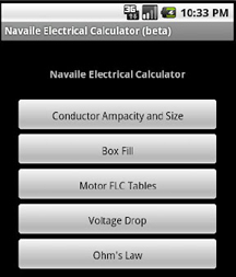 Solar pv calculators online tools and software wiring the navaile electrical calculator is a free mobile app android only for now based on nec 2008 2011 and can identify the right utility company greentooth Gallery