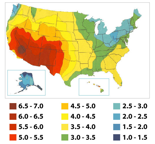StepByStep Guide To Installing A Solar Photovoltaic System Step - Us sun hours map